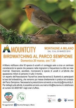 Esperienza di birdwatcing al Parco Sempione durante la manifestazione Mountcity